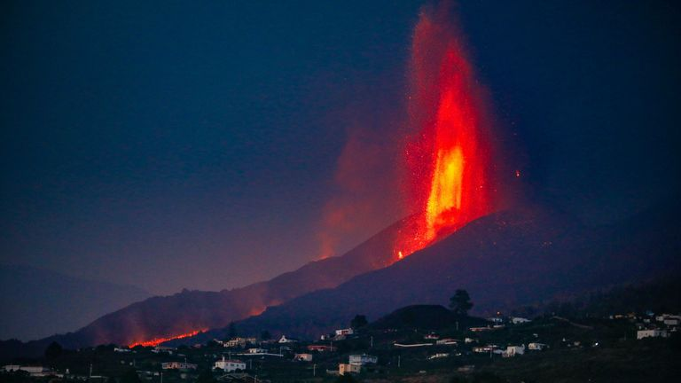 Scientists are unsure when the eruption will end Pic: AP