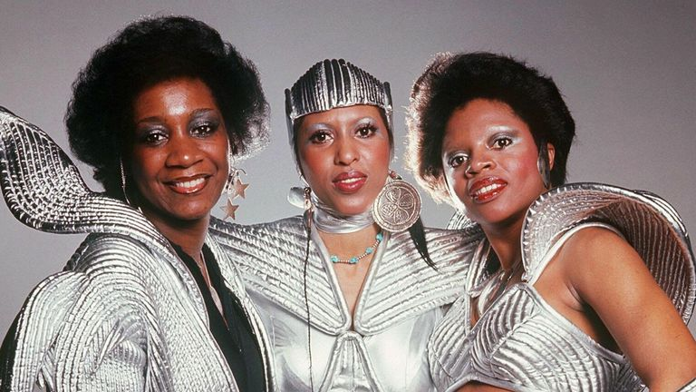 From left: Patty LaBelle, Nona Hendryx and Sarah Dash were known for their outlandish outfits as members of Labelle