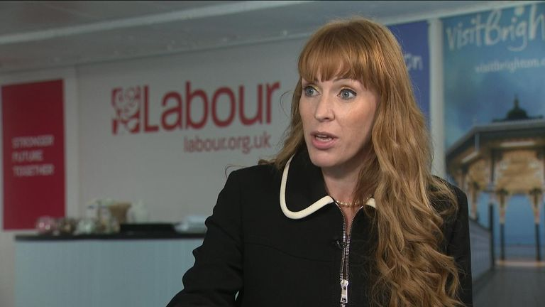 Labour's deputy leader refused to apologise for calling the Tories a 'bunch of scum, homophobic, racist, misogynistic'.