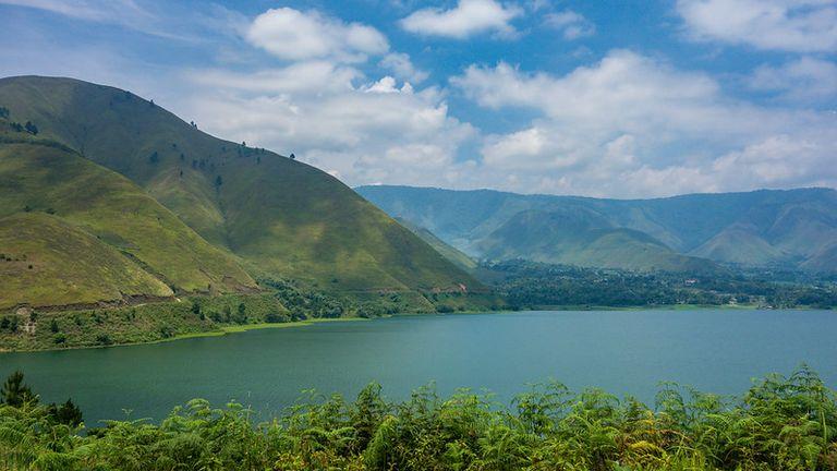 The beautiful Lake Toba actually occupies the caldera of a supervolcano. Pic: Klim Levene