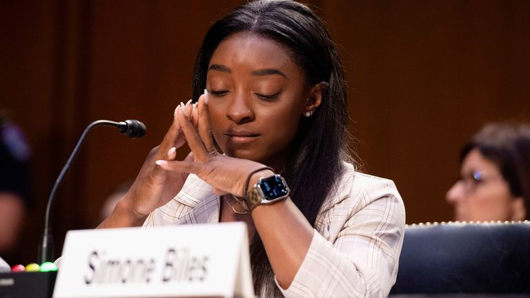 Top gymnasts have been testifying to lawmakers in Washington over FBI failures to investigate abuse at the hands of Larry Nassar.