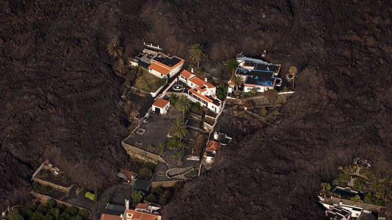 Lava from a volcano eruption flows in El Paso, on the Canary Island of La Palma, Spain, September 23, 2021.