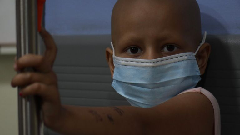 Rudayana is fighting leukaemia, but there is not always enough medicine
