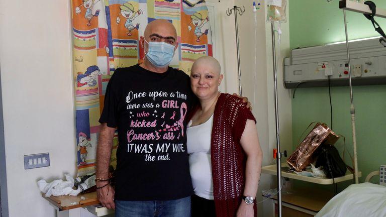 Helen Kazazian, and her husband Robert, are worried she will not get her medicine