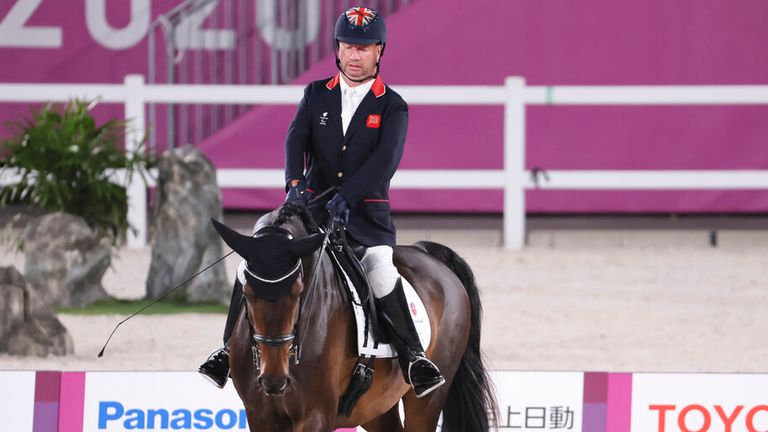 Sir Lee Pearson came away with two golds as GB won eight equestrian medals. Pic: AP