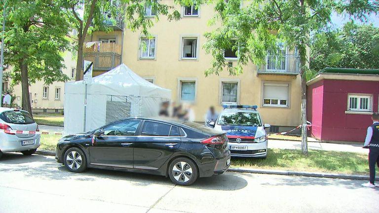 Police at the scene in Austria