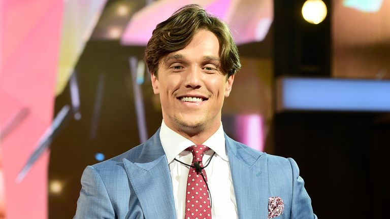 Lewis Bloor is seen entering the Celebrity Big Brother house at Elstree Studios in Borehamwood, Herfordshire. PRESS ASSOCIATION Photo. Picture date: Thursday July 28, 2016. See PA story SHOWBIZ CBB. Photo credit should read: Ian West/PA Wire