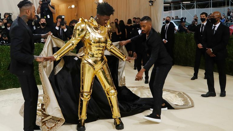 Metropolitan Museum of Art Costume Institute Gala - Met Gala - In America: A Lexicon of Fashion - Arrivals - New York City, U.S. - September 13, 2021. Lil Nas X. REUTERS/Mario Anzuoni