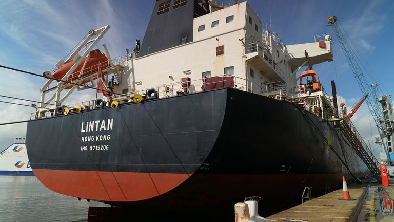 The Lintan is among global trade vessels facing a huge backlog of deliveries