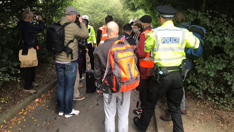 A group of Insulate Britain activists were intercepted by police near Dartford as they headed to block the M25