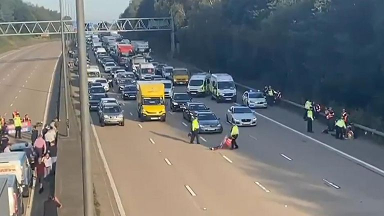 Protesters on M25