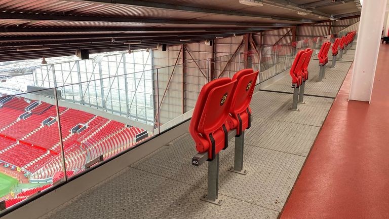 A new section for disabled fans fully opens today at Old Trafford