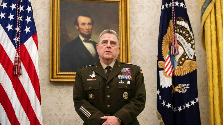 Gen Mark Milley is reported to have taken secret action to limit Trump from launching a military strike