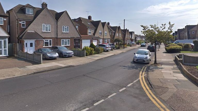 The teenager was stabbed in Marlborough Gardens yesterday afternoon. Pic: Google Maps