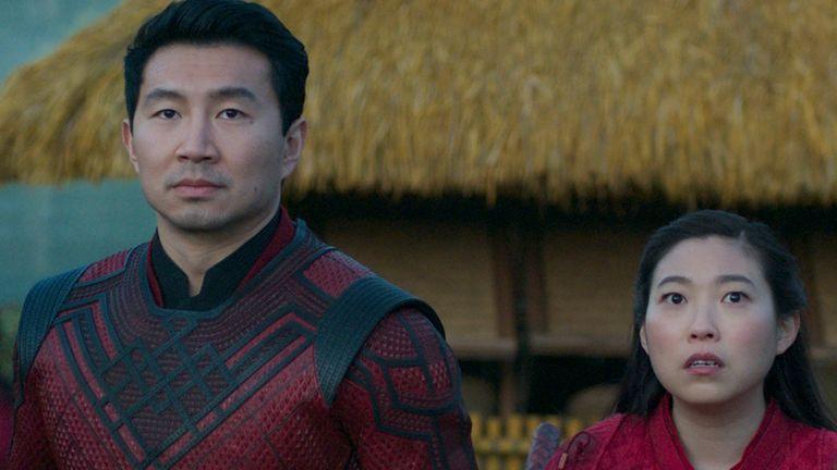 Xialing (Meng...er Zhang), Shang-Chi (Simu Liu) and Katy (Awkwafina)