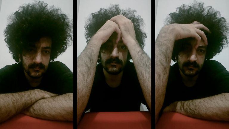 Mehdi Rajabian made his album undercover in Iran, collaborating with musicians online. Pic: Barg Music