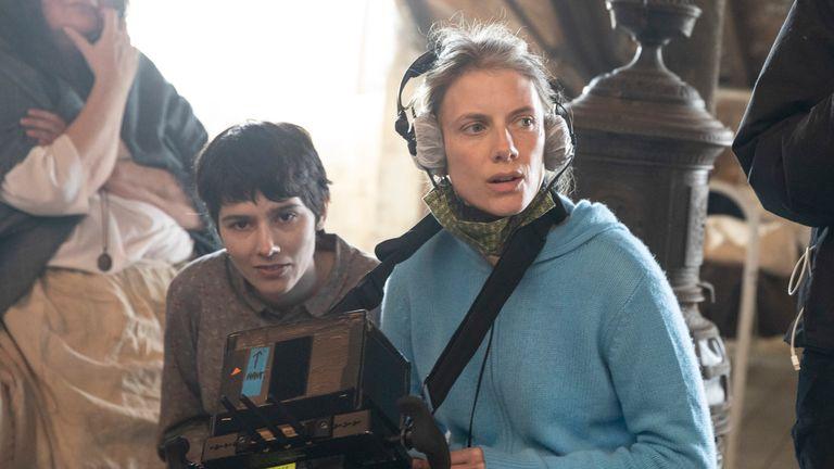 Melanie Laurent directing her latest film. Pic: Jean-Louis Fernandez