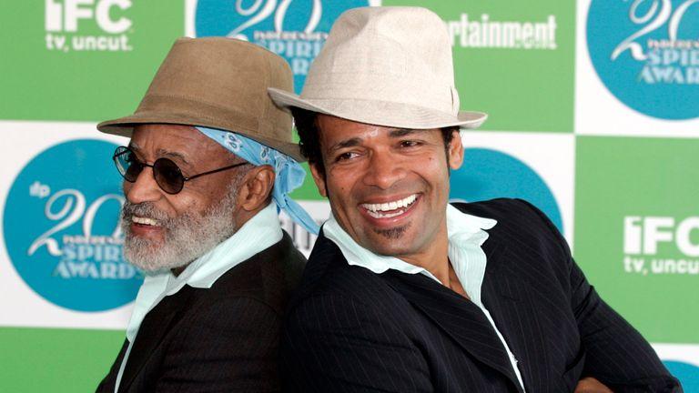 Melvin and his actor son Mario Van Peebles