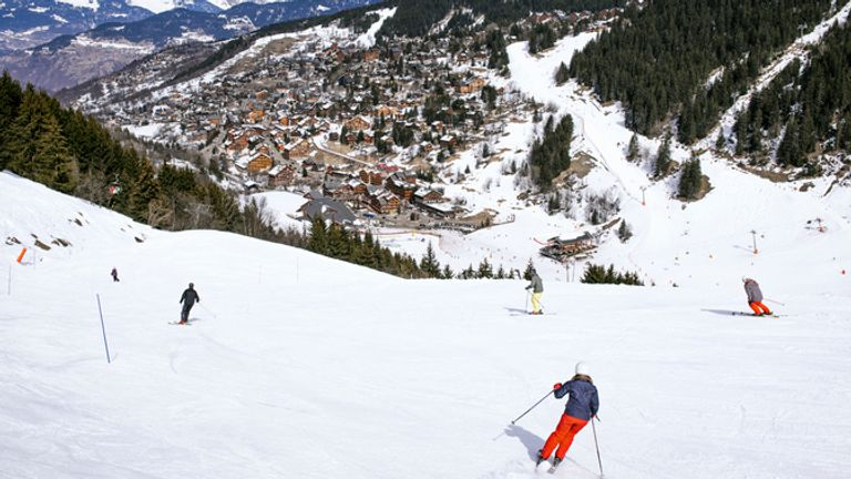 Mr Martin died while on holiday in the French resort of Meribel. File pic