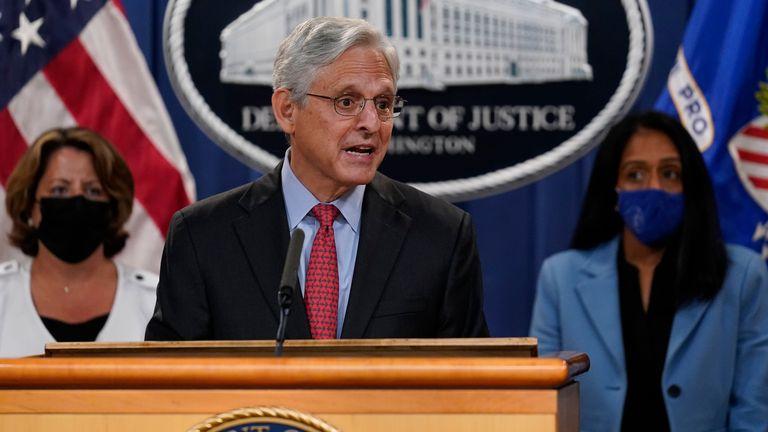 Attorney General Merrick Garland. Pic: AP