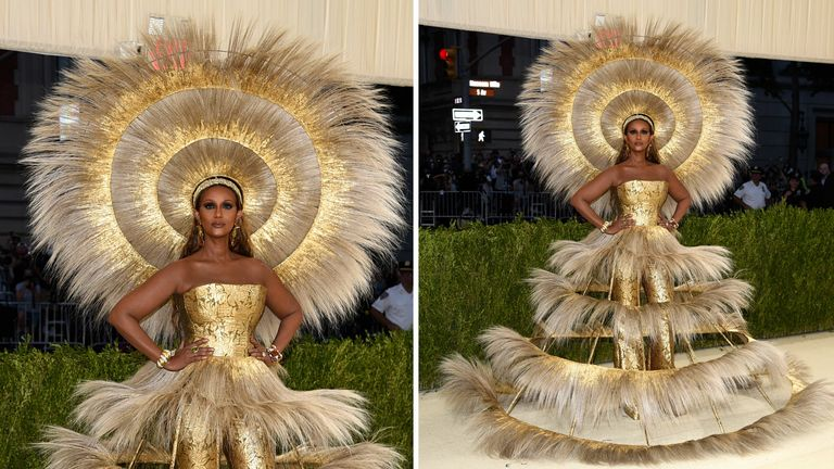"""Iman attends The Metropolitan Museum of Art's Costume Institute benefit gala celebrating the opening of the """"In America: A Lexicon of Fashion"""""""