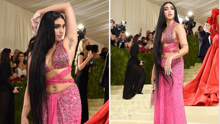"""Lourdes Leon attends The Metropolitan Museum of Art's Costume Institute benefit gala celebrating the opening of the """"In America: A Lexicon of Fashion"""" exhibition  PIC:AP"""
