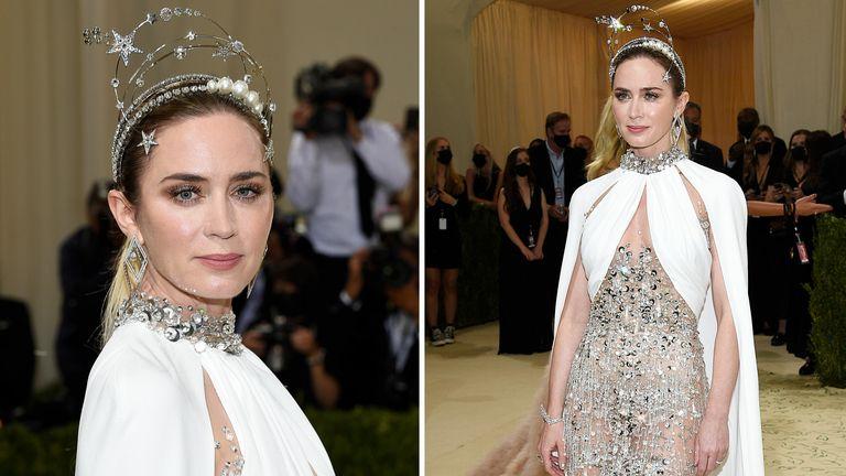 Emily Blunt attends The Metropolitan Museum of Art's Costume Institute benefit gala  PIC:AP