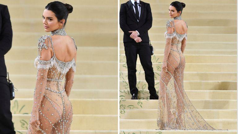 Kendall Jenner at the 2021 Met Gala  PIC:AP