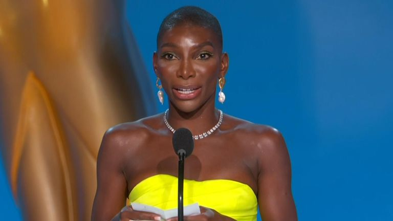 Michaela Coel of I May Destroy You at the 2021 Emmys