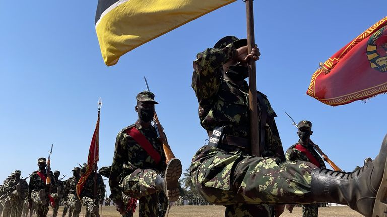 1000 Rwandan soldiers were in the country