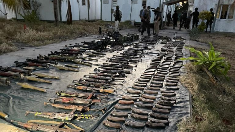 Mozambique's forces have access to a couple of armoured vehicles and ancient-looking AK-47 rifles  in the province of Cabo Delgado