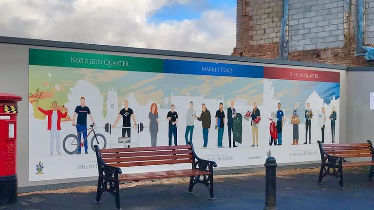 The mural has been criticised for a lack of diversity