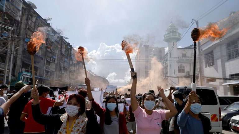 Since the military took control of Myanmar, people have protested its rule