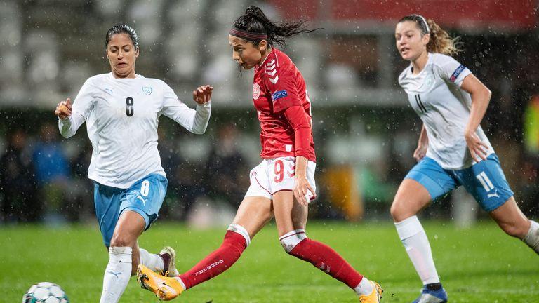 Nadia Nadim has represented Denmark more than 90 times Pic: AP