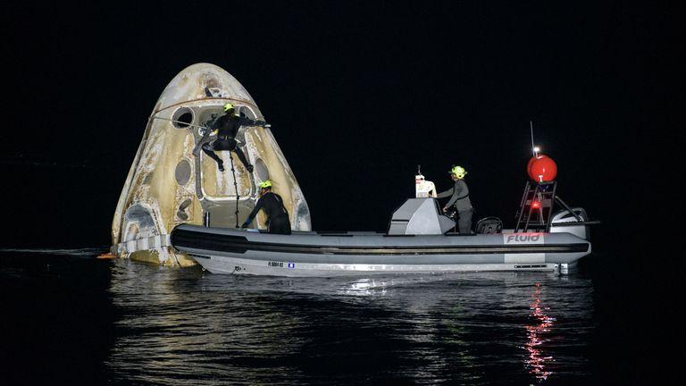 A splashdown of a Dragon capsule. Pic: NASA