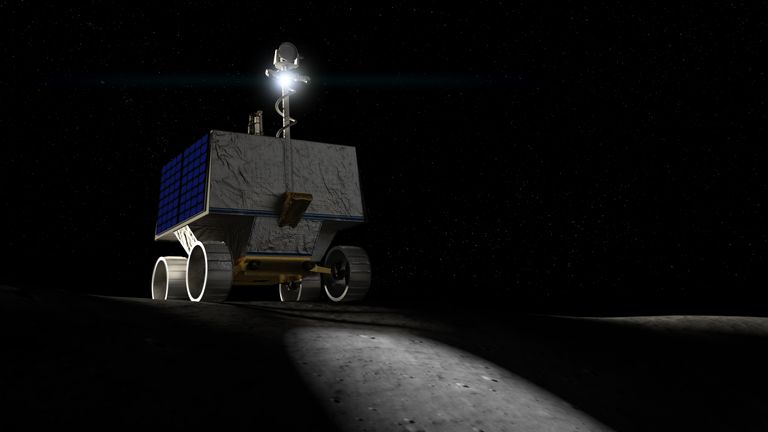 VIPER (Volatiles Investigating Polar Exploration Rover) will land near the Moon's south pole