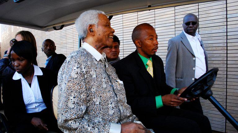 Nelson Mandela at Freedom Park. Pic: AP