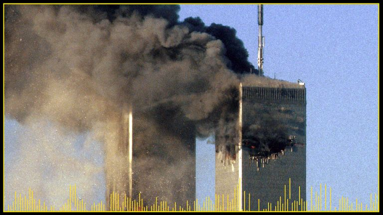 A fireball erupted from the South Tower after a second plane hit the World Trade Center