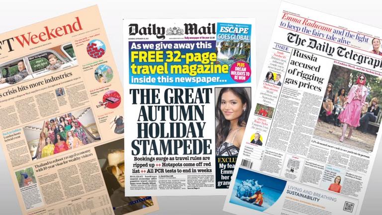 Saturday's newspapers