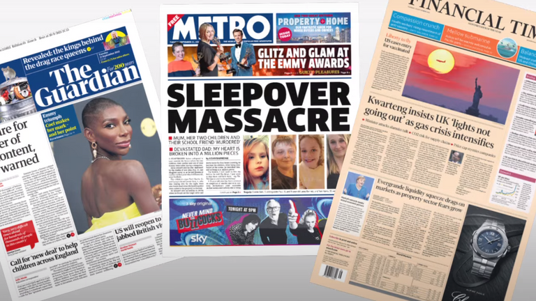 Tuesday's newspapers