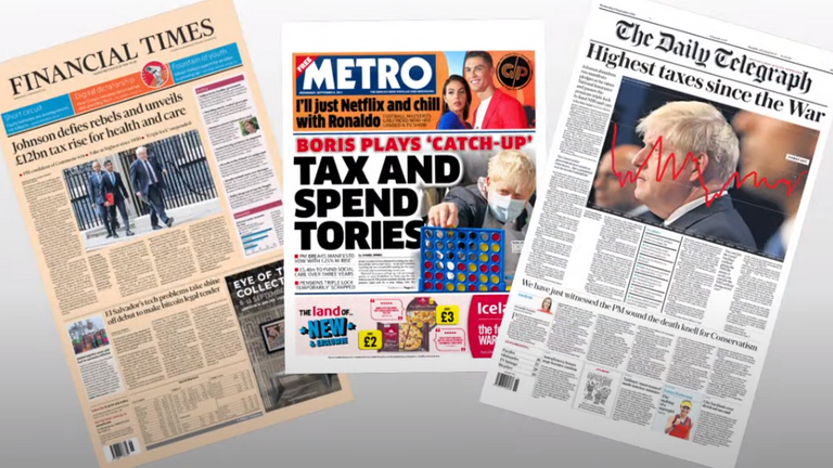 Wednesday's papers