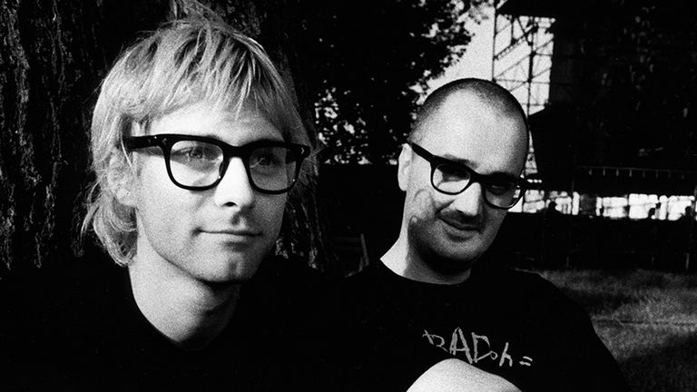 Kurt Cobain with Everett True. Pic: Steve Gullick Photography