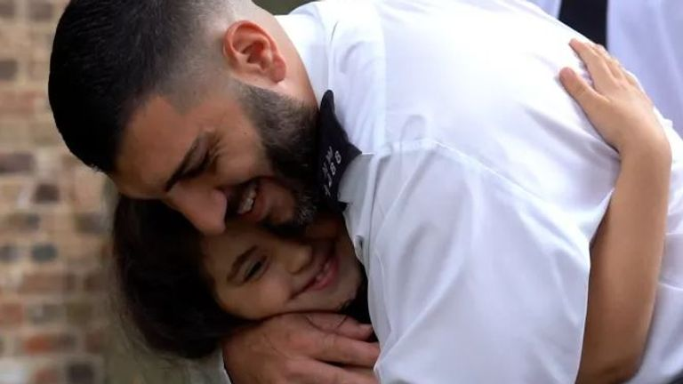 Noura reunited with PC Ahmet Mavitunali