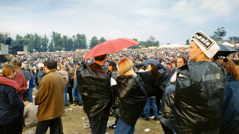 The crowd at one of the Oasis Knebworth gigs in 1996. Pic: Michael Spencer Jones