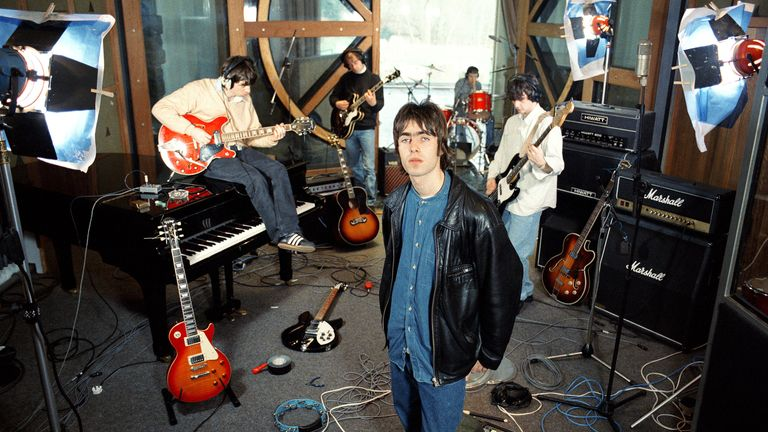 Oasis in the early days. Pic: Michael Spencer Jones