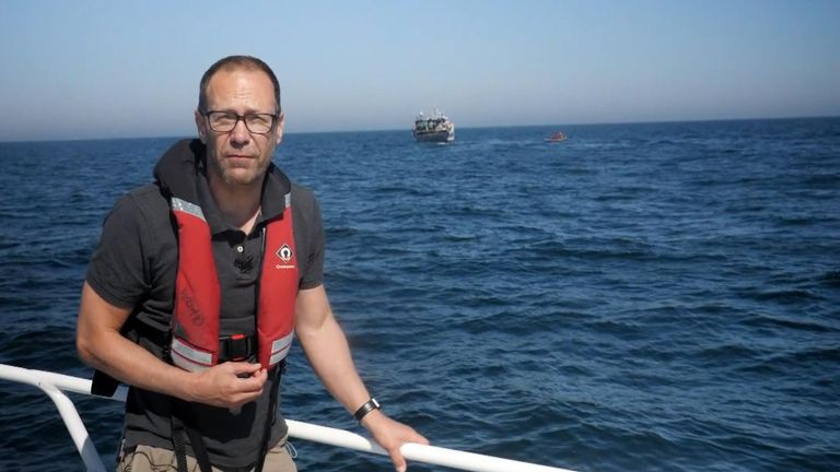 Sky News' Thomas Moore joined Greenpeace on patrol as part of the organisation's Operation Ocean Witness.