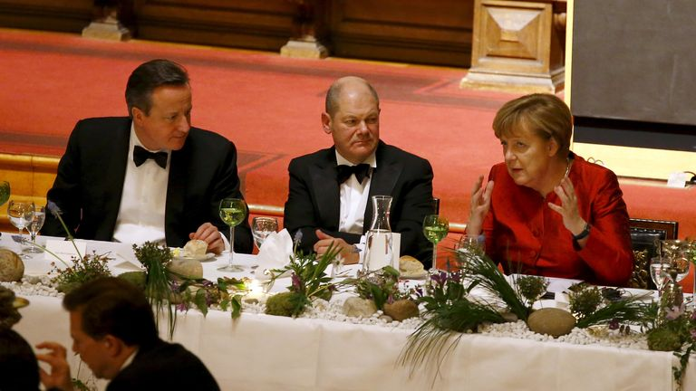 As mayor of Hamburg, one of the events Mr Scholtz presided over was hosting then prime minister David Cameron on an official visit to Germany just before a vital EU summit in 2016