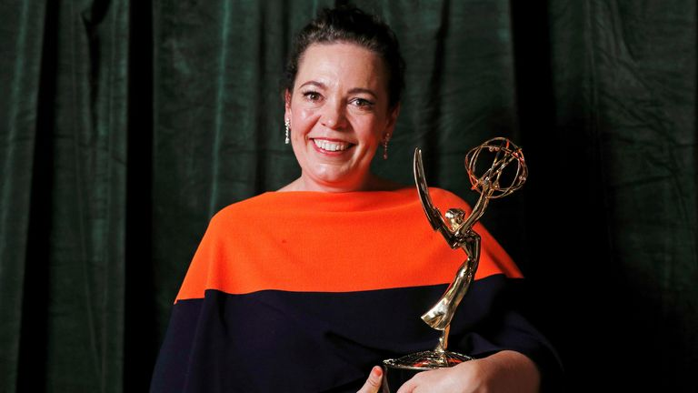 Olivia Colman picked up the award for best actress in a drama for her portrayal of the Queen in The Crown