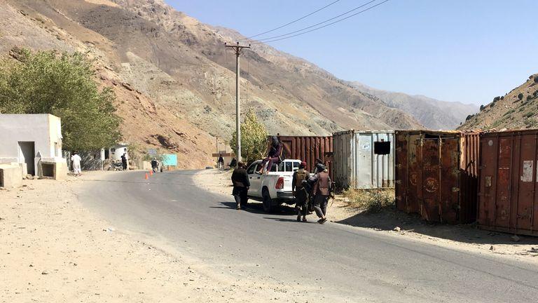 Taliban soldiers patrol in Panjshir province northeastern of Afghanistan, Wednesday, Sept. 8, 2021.  PIC:AP