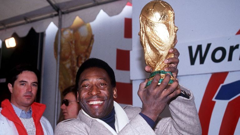 Pele pictured at the World Cup in 1994